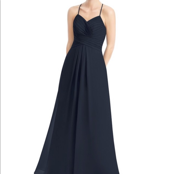 a475f479ba8 Azazie Dresses   Skirts - Bridesmaid Dress  Dark Navy Azazie Cecilia
